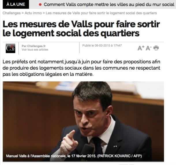 Valls Logements sociaux Dalo Quartiers