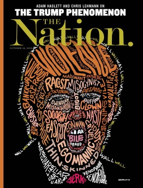 #Trump à la UNE de « The Nation »: Egomaniac, Fascist, Clown, Racist, Loser, idiot, Xenophob, etc…