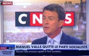 M. #Valls, «député par effraction(?)» viré du PS: «(..) le Parti socialiste me quitte»…